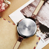 Clay mini word  watches with leather strap