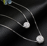 Double-layer Inlaid of rhinestone necklace