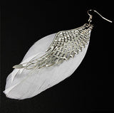 Angel's metal feather wings earrings