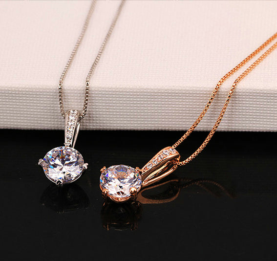 Cubic zirconia chain necklace