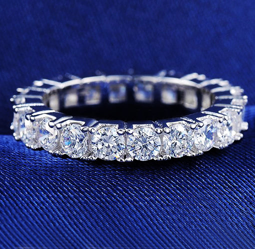 Orsa Jewels Women's Austrian Crystal Finger Eternity Ring with AAA Cubic Zirconia