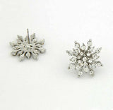 Crystal snow flake earrings