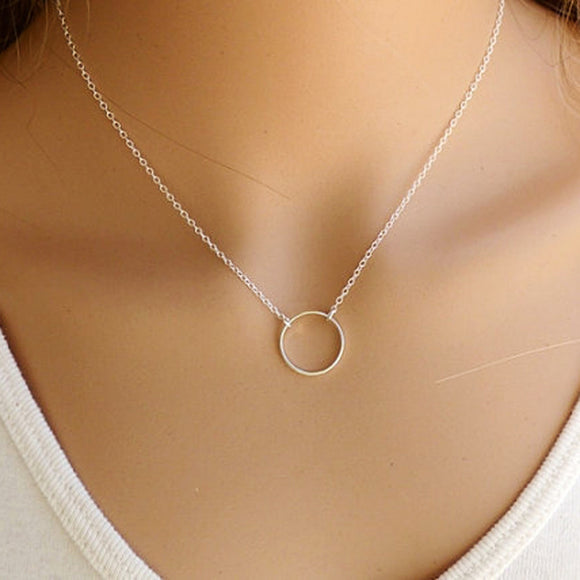 Little circle chian necklace