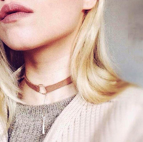 Leather O Ring Choker