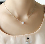 Elegant crystal ball necklace 925