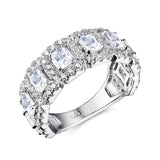 Nattaphol Solid 925 Sterling Silver Wedding Ring Engagement Band 2 Ct AAA Cubic Zirconia