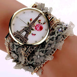 Vintage style Eiffel tower bracelet watches Different colors