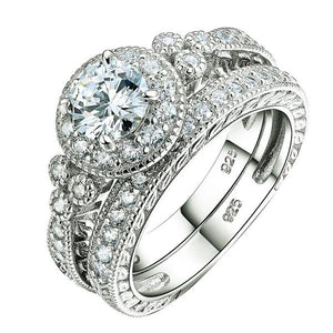 Beautiful silver ring set 925