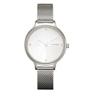 Trendy minimalist style stainless steel watches