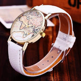 Adorable world map watches Different colors