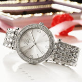 Women Watch Sets Quartz Wrist Watches with Rose Gold Earring and Necklace 3 Sets for Christmas Gifts