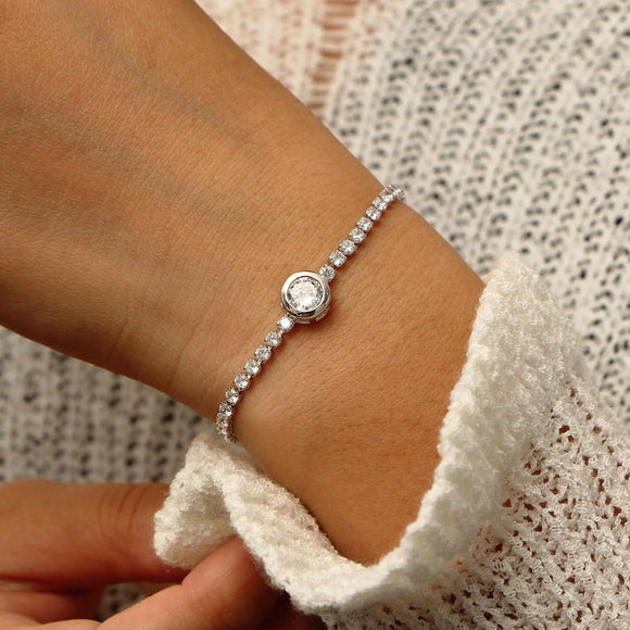 FREE GIFT!!! Adorable bracelet silver color with cubic zirconia