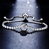 Luccaful 17KM Round Tennis Bracelet for Women Gold Silver Cubic Zirconia Charm Bracelets Bangles Wedding Jewelry