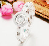Luxury ceramic watches  with crystals and dial of pearl  Japanese quality