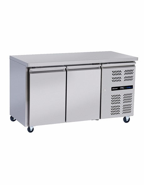 Blizzard Slim-line Stainless Steel Two Door Counters HBC2SL 260 litres