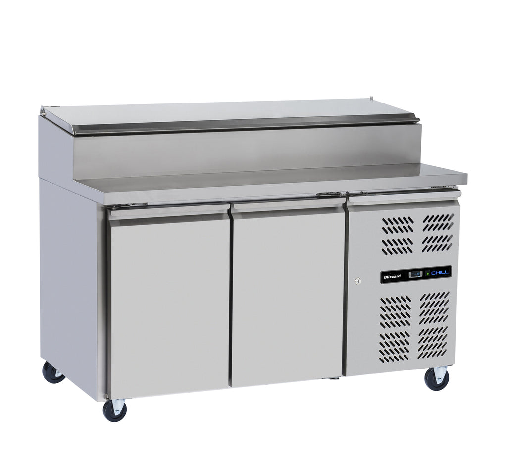 Blizzard Refrigerate Prep Counter with Raised Collar : HBC2EN