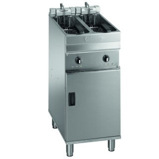 Valentine Twin Pan Twin Basket Turbo Fryer 250mm : EV02200 T