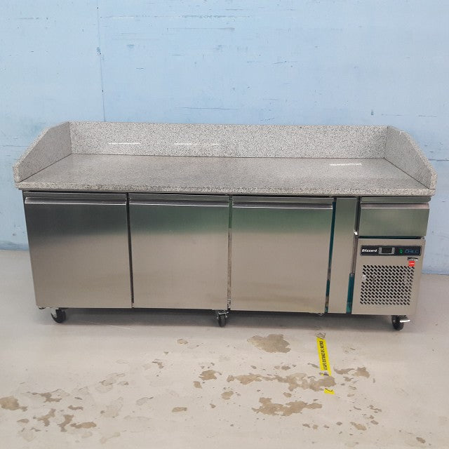 Three Door Refrigerated Prep Counter with Granite Work Top BPB2000