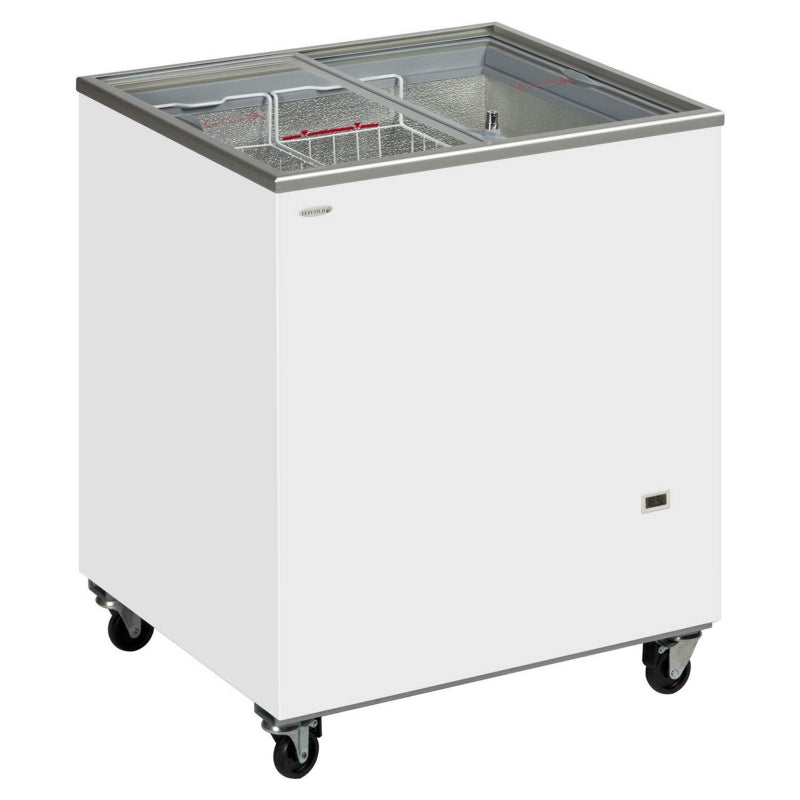 Interlevin Sliding Flat Glass Lid Chest Freezer : IC300SC