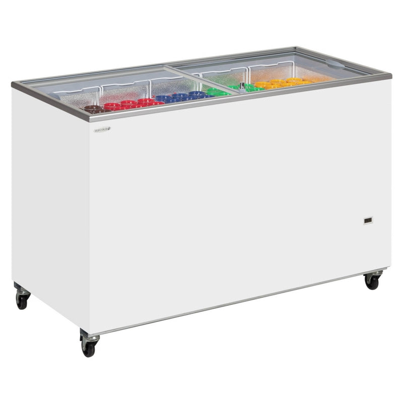 Interlevin Sliding Flat Glass Lid Chest Freezer : IC500SC