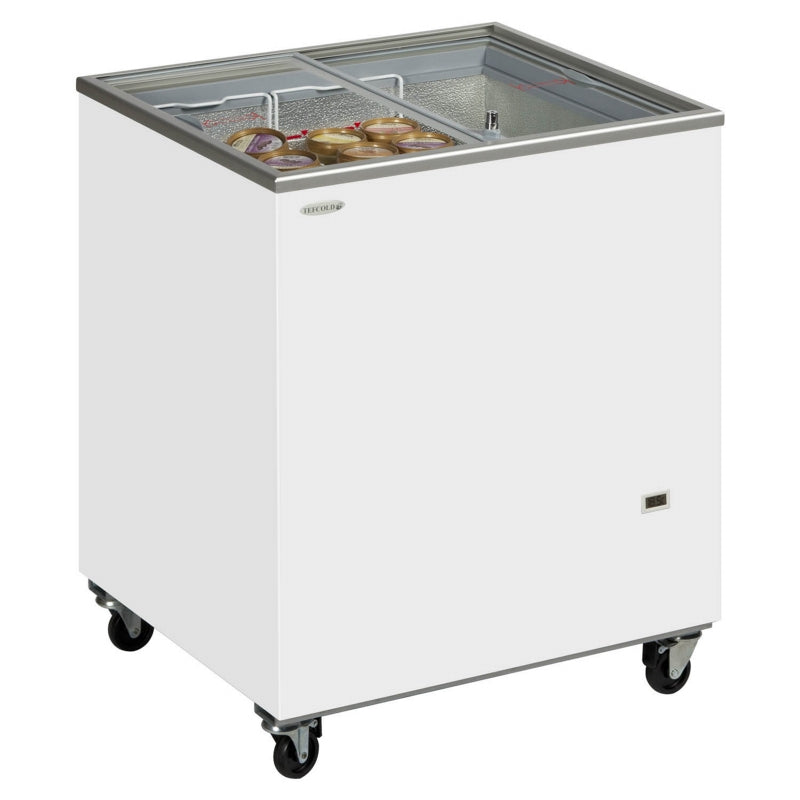 Interlevin Sliding Flat Glass Lid Chest Freezer : IC200SC
