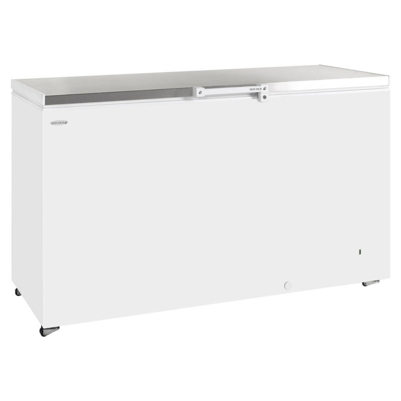 Interlevin Solid Lid Chest Freezer Stainless Steel Range : GM400SS