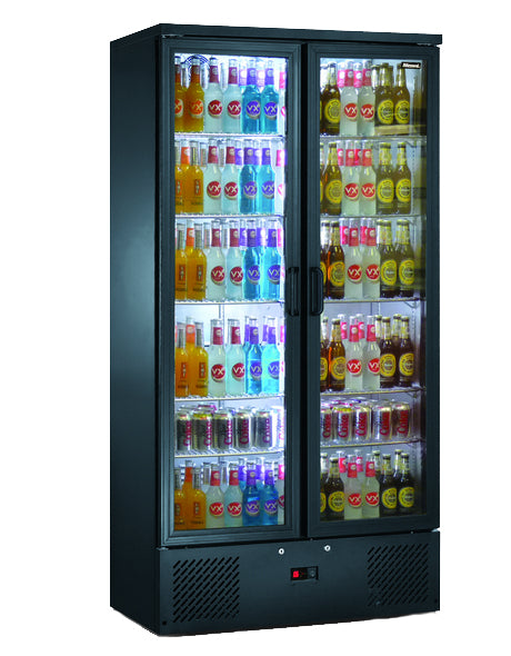 Blizzard 417 Litre Two Door Upright Bottle Cooler BAR20
