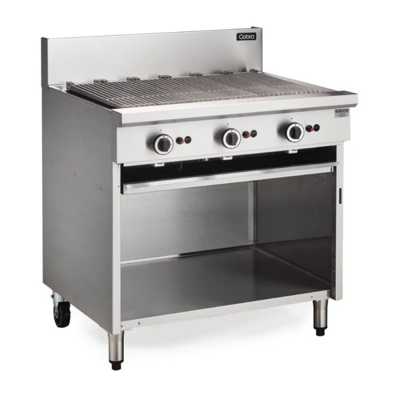 Blue Seal Open Cabinet Base Gas BBQ 900mm : CB9