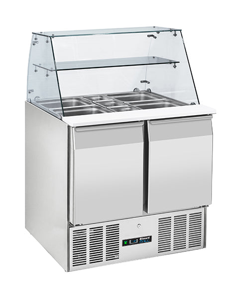 Blizzard Compact Gastronorm Two Door Prep Station With Display : BPD2-ECO