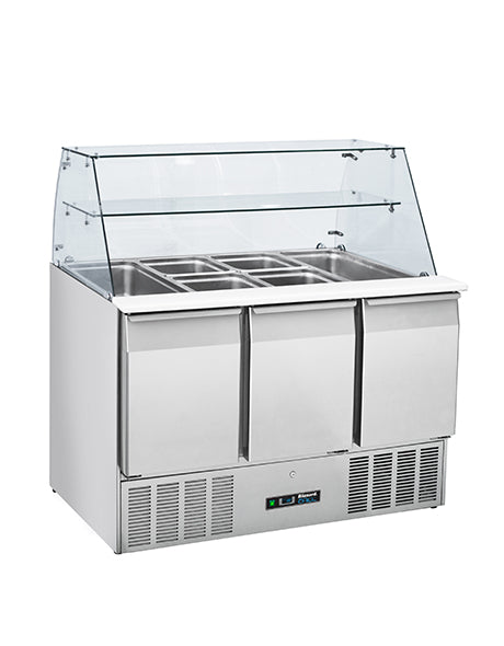 Blizzard Three Door Compact Gastronorm Prep Station with Disply : BPD3-ECO