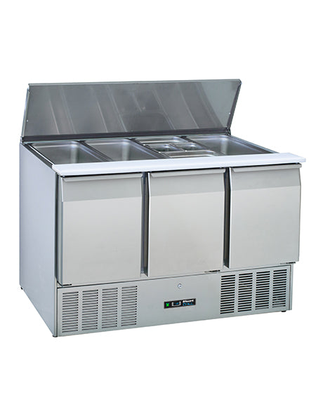 Blizzard Three Door Compact Gastronorm Saladette : BSP3-ECO