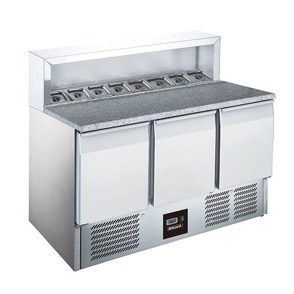 Blizzard 3 Door Compact Gastronorm Counter 368l BCC3