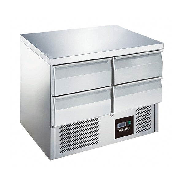 Blizzard 4 Drawer Compact Gastronorm Counter 240l BCC2-4D