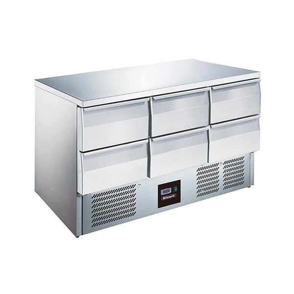 Blizzard 6 Drawer Compact Gastronorm Counter 368l BCC3-6D