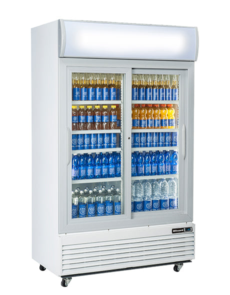Blizzard 1000 Litre Two Door Drinks Display GD1000SL