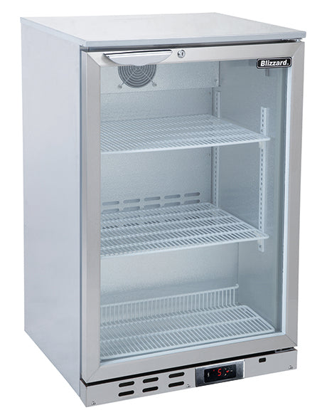Blizzard 130 Litre One Door Bottle Cooler BAR1SS