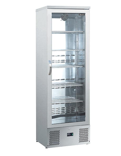 Blizzard 260 Litre One Door Upright Bottle Cooler BAR10SS