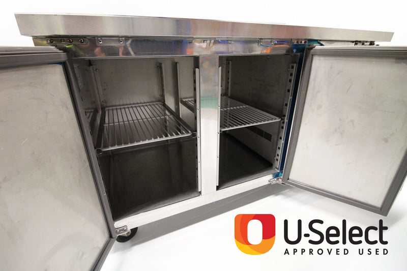 Blizzard Refrigerator Gastronorm Counter HBC2 Open Doors