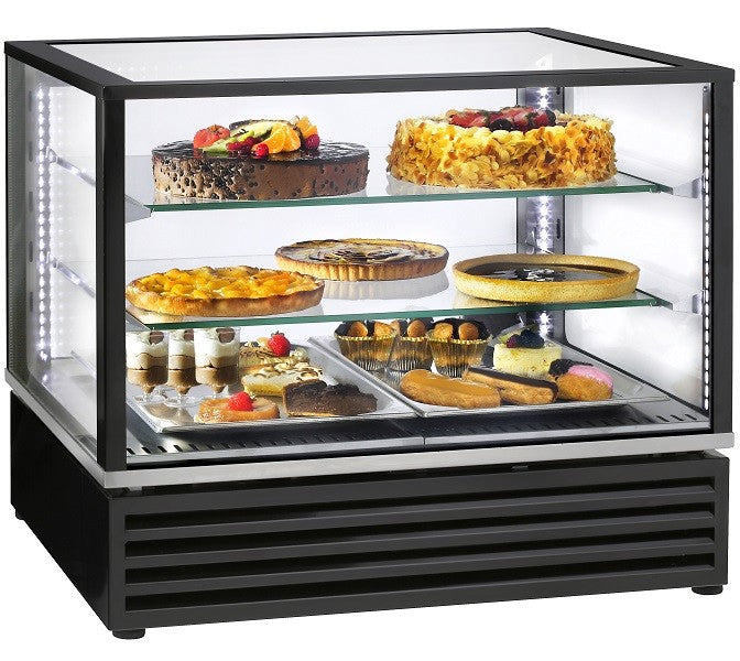 Roller Grill 2/1 GN Display with 2 shelves
