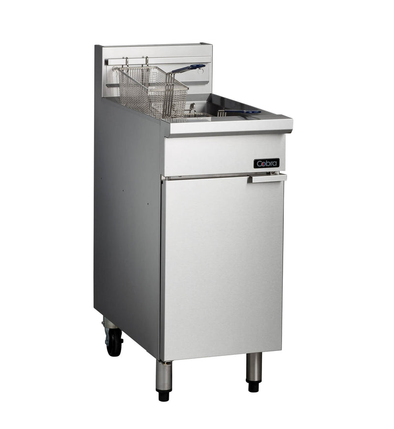 Blue Seal Gas Single Pan Twin Basket Fryer - CF2