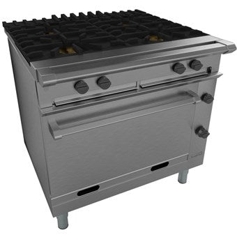 Falcon Four Burner Open Top Oven Range: G1006X