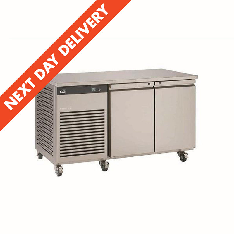 Next Day Delivery Foster EcoPro G2 Two Door Refrigerator Counter : EP1/2H 12-102
