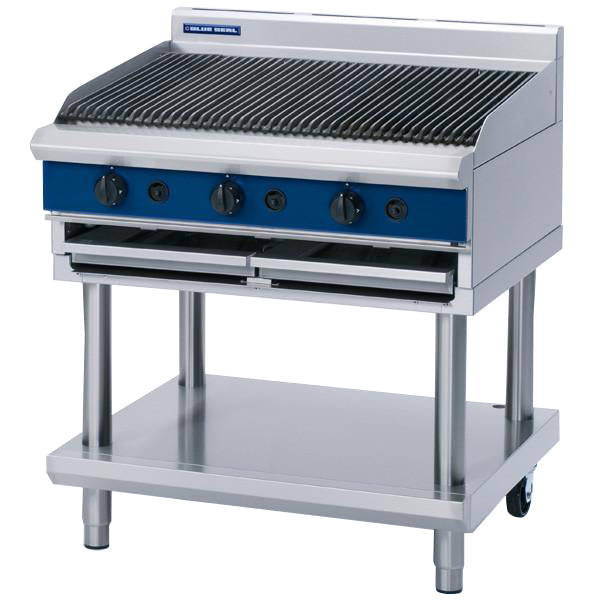 Blue Seal 900mm Gas Chargrill on Fixed Stand : G596-LS