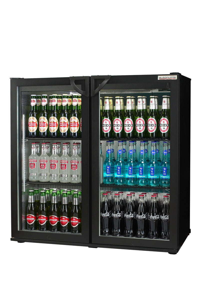 Autonumis Two Door Maxi Bottle Cooler Fridge Black : RHC00001