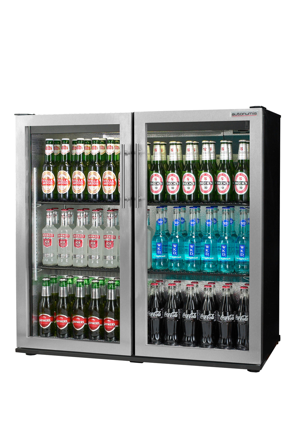 Autonumis Two Door Maxi Bottle Cooler Fridge Stainless Steel : RHC00002