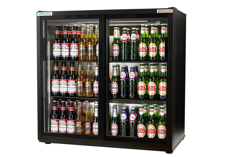 Autonumis Ecochill Two Sliding Door Maxi Bottle Cooler Black : RKC10001