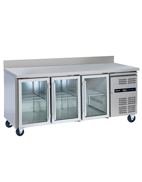 Blizzard Refrigerated Three Glass Door Gastronorm Counter : HBC3CR