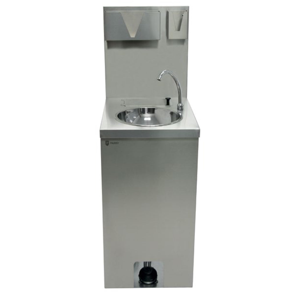 Parry Single Bowl Mobile Hand Wash Station With Accessories