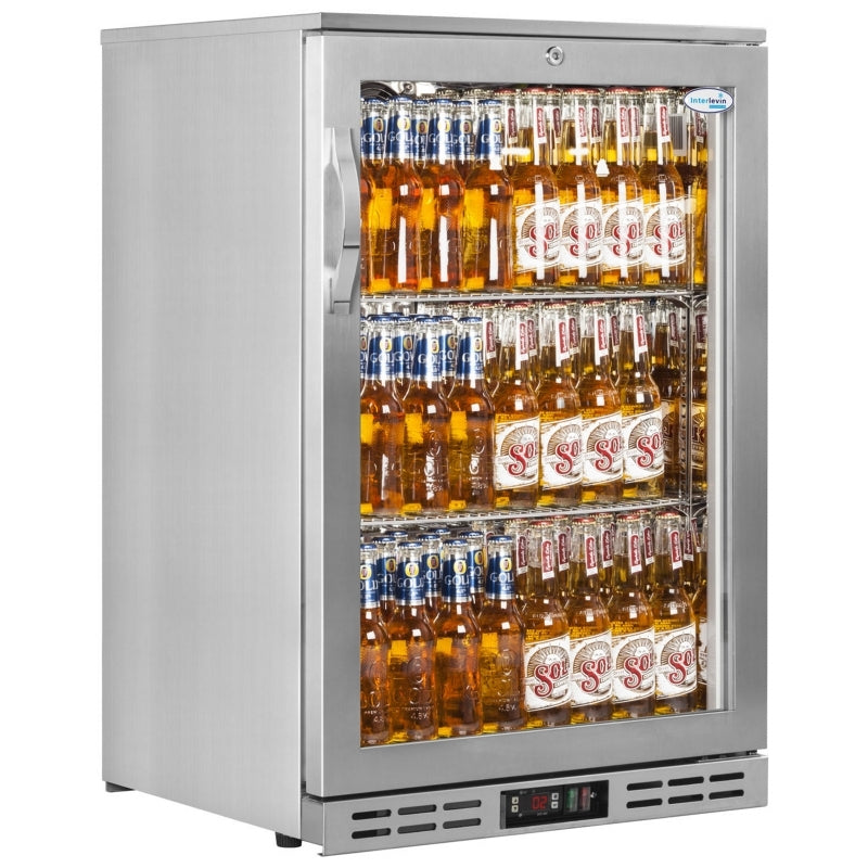Interlevin 142 Litre One Door Bottle Cooler PD10H SS