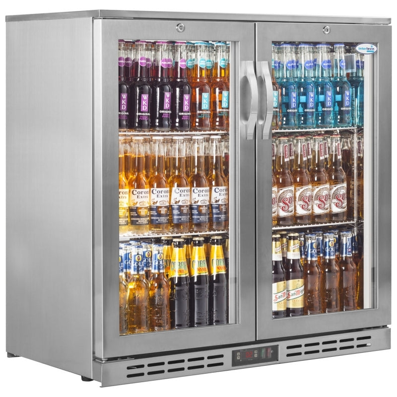 Interlevin 210 Litre Two Door Bottle Cooler PD20H SS